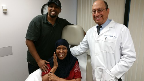 Patient from Somalia and son at the INR in Boca Raton with Dr. Tobinick, minutes after treatment.
